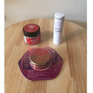 Lot of 3 lip care full size products BITE, LUSH